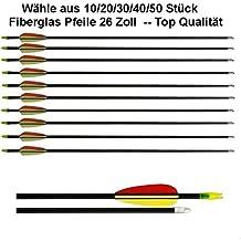 10 Fibra de Vidrio Flechas / 26 pulgadas / para Arcos Compuesto / Recurvo 10961