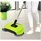 PERFECT SHOPO NEW Foldable 360 Degree Rotating Brush Spin Hand Push Broom Sweeper Dust Collector Floor Surface Cleaning Mop / New Stainless Steel Sweeping Machine Push Type Hand Push Magic Broom Dustpan Handle Household Cleaning Package Hand Push Sweeper