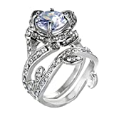 Rose Zirkon Ring Frauen Vintage schöne weiße Diamant Silber Engagement Ehering YunYoud armkette schlicht platinring billige holzringe doppelring trauring echtschmuck edelsteinringe