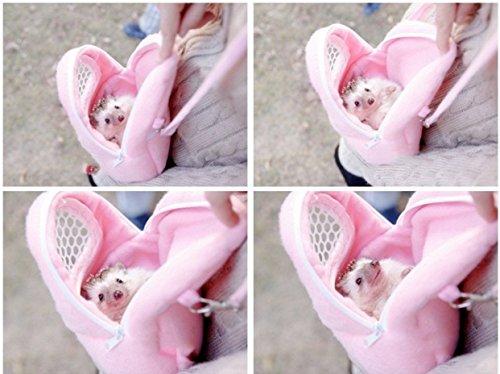 Yosoo 1 PCS White Mesh Portable African Hedgehog Hamster Breathable Pet dog Carrier Bags Handbags Puppy Cat Travel… 6