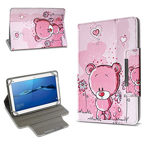 UC-Express Tablet Schutz Hülle Huawei MediaPad T1 T2 T3 10.0 Tasche Hülle Schutz Case Universal Standfunktion Verschiedene Motive Farbauswahl, Motiv:Motiv 5 -