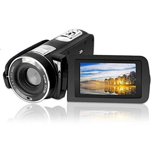 GordVE 24,0 Megapixel Camcorder Digitalkamera, 1080P FHD Video Kamera  mit 18X Digital Zoom  VideoKamera mit 2,7 '' LCD