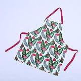 GONGFF Grembiule Tropicale Monstera Flamingo Leaf Grembiule Adulto Unisex Donna Bavaglino Cucina casalinga Cottura Caffetteria Grembiuli per Pulizia Accessori da Cucina