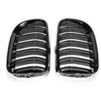 QCY AT Front Grille For BMW E92 E93 2010-2014 Gloss Black Front Kidney Grill Grille