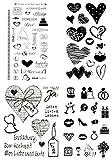 be fancy! Silikonstempel Set - Hochzeit - Clear Stamps - Stempel - 70 Motive - transparent