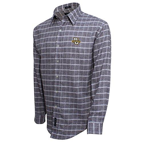Gebürstete Baumwolle Check Shirt, herren, Brushed Cotton Check Shirt, Grau/Weiß, Large