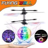 TURNMEON Boule Volante RC Jouet, Infrarouge Drone Hélicoptère Ballon avec Lumineux LED D'éclairage pour Les Enfants...