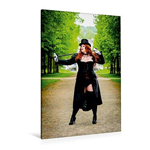 Premium Textil-Leinwand 80 cm x 120 cm  hoch, XXL Girls | Wandbild, Bild auf Keilrahmen, Fertigbild auf echter Leinwand, Leinwanddruck: Sexy Übergrößen Frau im Kostüm (CALVENDO Menschen)