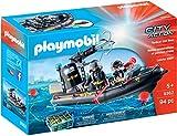 Playmobil Bateau pneumatique et policiers d'élite, 9362