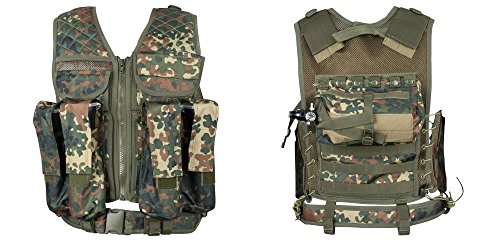 New Legion Erwachsene Tactical Weste Carrier Paintball, Flecktarn, M-XXL