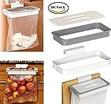 HWF 2pcs Müllsackhalter Küchenabfallsackhalter mit Deckel, Kunststoff Müllsackständer, Abfallbehälter Müllbeutelhalter