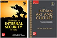 UPSC Preparation Combo : Challenges to Internal Security + Indian Art and Culture (Set of 2 books)