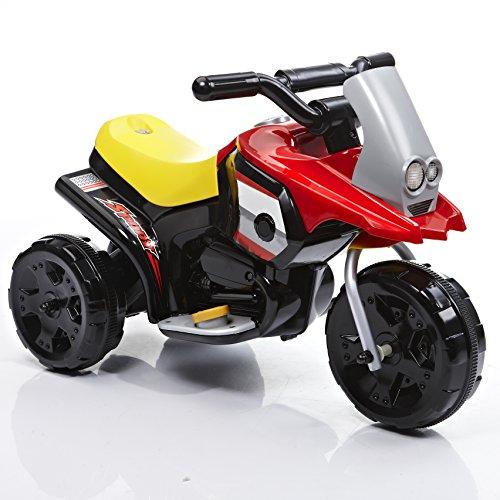 ROLLPLAY Elektro-Motorrad, Für Kinder ab 1 Jahr, Bis max. 25 kg, 6-Volt-Akku, Bis zu 2 km/h, My First Motorcycle, Rot (1 6 Motorrad)