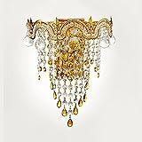 TOYM UK Traditionelle Gold Kristall Wandleuchte Wohnzimmer Studie Korridor Bett Treppe Eingang Tür Lampe
