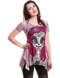 061623538f Cupcake Cult Muerte Chic Top Beige Pink Skeleton Lady Pink Lace Cosplay  Goth Emo