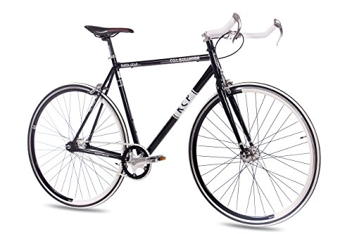 "28"" RENNRAD FAHRRAD KCP FG-1 BULLHORN FIXED GEAR SINGLE SPEED schwarz - 71,1 cm (28 Zoll)"