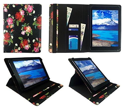 One Tablet Xcellent 10 Windows Nacht Rosengarten Universal 360 Grad Drehung PU Leder Tasche Schutzhülle Case ( 9 - 10 Zoll ) von Sweet Tech