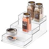 iDesign Linus Schrank Organizer, mittelgroßes Küchenregal mit 3 Ebenen aus Kunststoff, durchsichtig