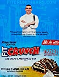 Chef Robert Irvine FortiFX - Fit Crunch Protein Bar Cookies and Cream - 88 Grams by FortiFx