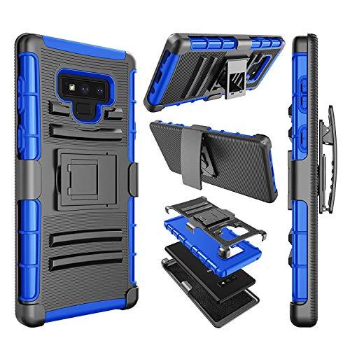 njjex Galaxy Note 9Fall, für Note 9 Clip, [ngate] Armor stoßfest Locking schwenkbaren Gürtelclip Ständer Heavy Duty Defender Full Body Schutz, der Bezug für Samsung Galaxy Note 9, blau Att Samsung Jack