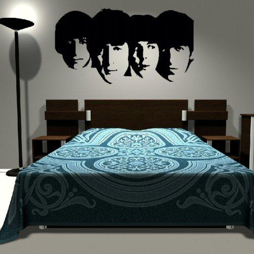 nic1 Wandaufkleber, Vinyl, Motiv: The Beatles L rot (Beatles-rotes Vinyl)