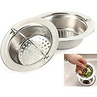 nicehomedo portatile in acciaio inox filtro per lavello bagno cucina scarico Filtro Disposer, Acciaio inossidabile, Silver, large