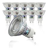 LED Lampe | GU10 10er Set | LED Birne 5 Watt | Glühbirne 400 Lumen | Leuchtmittel ersetzt Halogen 50 Watt | warmweiss 3000K | Abstrahlwinkel 36°