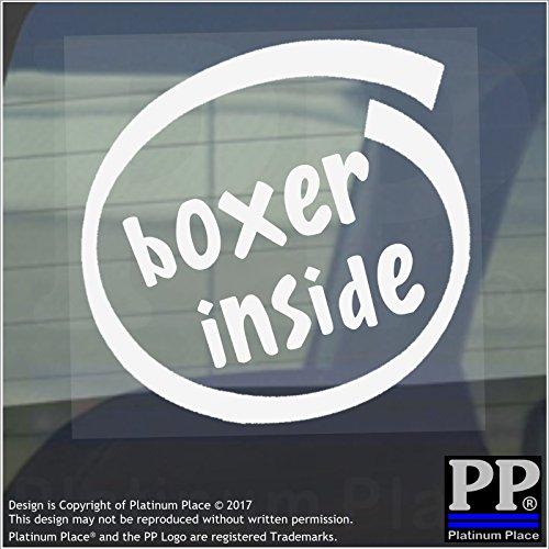 1x Boxer inside-window, Auto, Van, Aufkleber, Zeichen, Fahrzeug, Handschuhe, Ring, Boxen, Taschen, Pad