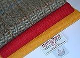 Harris Tweed Stoff 100% reine Schurwolle Craft Bundle (Mix