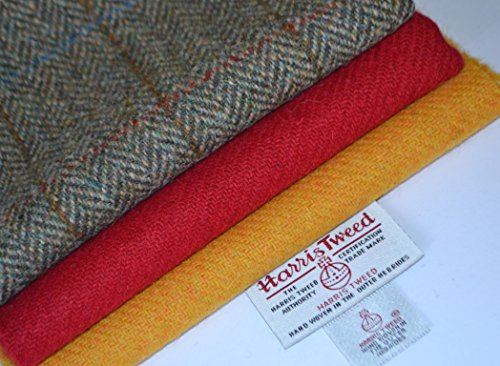 5-meter-bundle (Harris Tweed Stoff 100% reine Schurwolle Craft Bundle (Mix 5) 35/25 x 3 auch als M & Hälfte M - siehe Handmaiden UK Harris-Tweed-Reihe)
