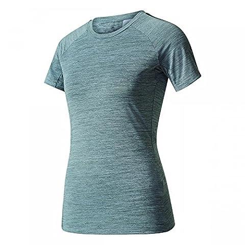 adidas Damen Performance Tee Shirt, Grau (hellgrau/melange), S