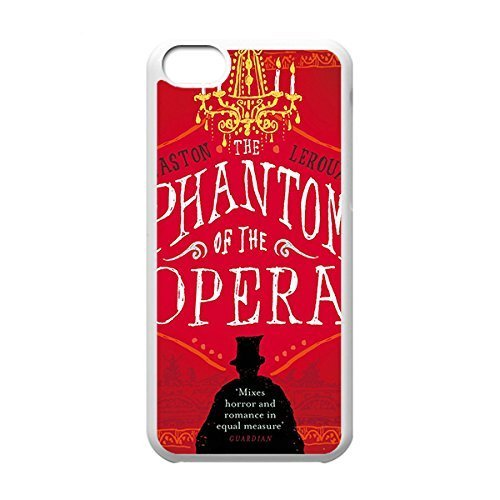 Classical Style Case with Phantom of the Opera Lightweight Plastic Protective Back Cover for iPhone 5C -White031212