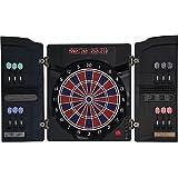 Dartona Elektronische Dartscheibe CB40 Cabinett - Turnierscheibe mit 27 Spielen und über 150 Varianten