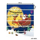 JSXL Wandtattoos Weihnachten Verkleiden Sich Treppen-Aufkleber Unter Dem Weihnachtsmann-Treppen-Dekorativen Wand-Aufkleber