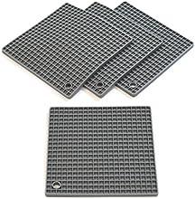 Coastee - Set de 4 salvamanteles multiusos - Silicona resistente al calor, apto para lavavajillas - Diseño sencillo y moderno