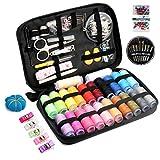 Qisiewell Kit Cucito Set per Cucire 238 Premium Accessori di Cucito 22 Rocchetto di Filo Color Arcobaleno Set Cucito A Mano Zipper Kit