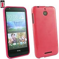 Emartbuy® HTC Desire 510 Shiny Gloss Gel Hülle Schutzhülle Case Cover Hot Rosa