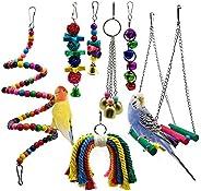 Mumoo Bear Bird Parrot Perch Toys, 7 packs