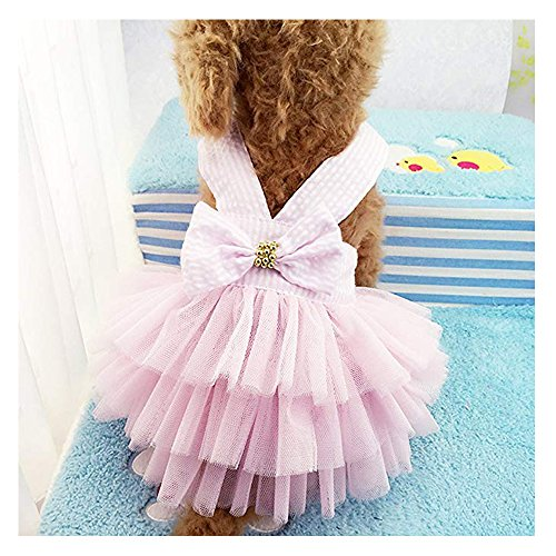 (Famhome Hund Spring Summer Kleid, Mode Pretty Sommer Sweet Puppy Dog Pet Kleid Rock Hunde Prinzessin Kleider Pet Coat Apparel Kostüm)