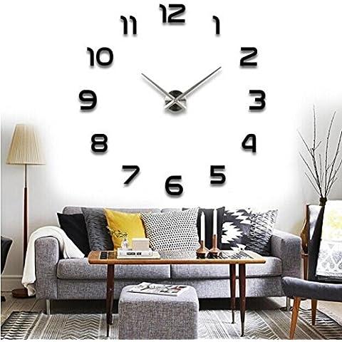Kingko® adesivi murali di moda a specchio acrilico adesivo fai da te parete interna decorazione creativa adesivo camera da letto orologio da parete camera adesivo