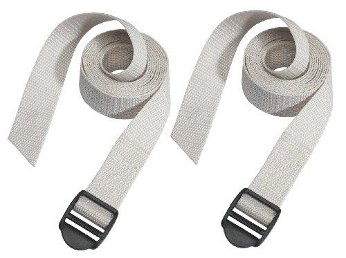 Masterlock 3005EURDAT Ribbons with Plastic Buckles, Gray, 180 cm
