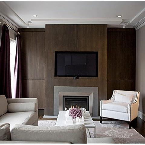 XMQC*Faux panoplia de diseño de la pared de PVC papel gofrado textura de grano de madera de teca Wallpaper Salón,Tv cubriendo de