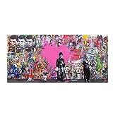 Cyalla Quadri Astratti su Tela Poster E Stampe Graffiti Street Poster Pop Art Immagine per Soggiorno Picture Decor 50X100Cm