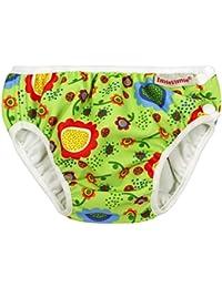 ImseVimse, Schwimmwindel, Badewindel, Aquawindel, Modell Green Flower - Babybadehose