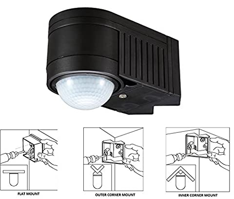 360 DEGREE PIR MOTION SENSOR DETECTOR SWITCH OUTDOOR
