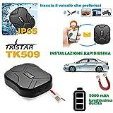 Givimusic LOCALIZZATORE GPS per Auto con Potente Magnete TKSTAR TK905 Tracker Veicoli SIM