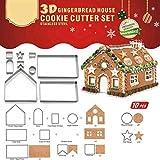 Weihnachten Lebkuchenhaus DIY Backen Gebäckwerkzeug Form Upxiang Edelstahl Kuchen Keks Ausstecher Form (Lebkuchenhaus)