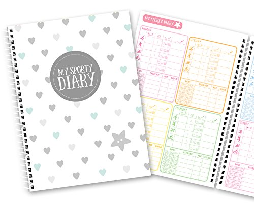 my-sporty-diary-12-months-exercise-planner-fitness-planner-fitness-diary-handmade-a5-blue-hearts