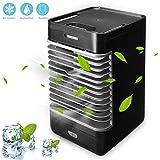 COLER Mini refrigerador de Aire Espacial, Ventilador Aire Acondicionado portátil 3 en 1, refrigeración, humidificación y purificación Aire, Dormitorio Oficina casa Quick Cool Aire Libre