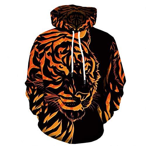 Elecenty Unisex 3D Druck Muster Kapuzenpullover Sweatshirts Langarm Hoodies Pullover mit Kapuzen Sweatjacke Comfortblend Fleece Pullover Hoodie